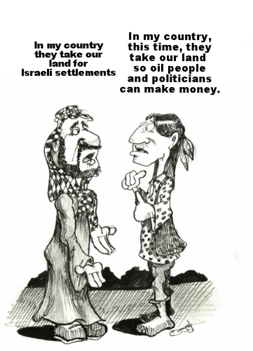 The Palestinian and the Native American | QUIGLEY'S CARTOONS